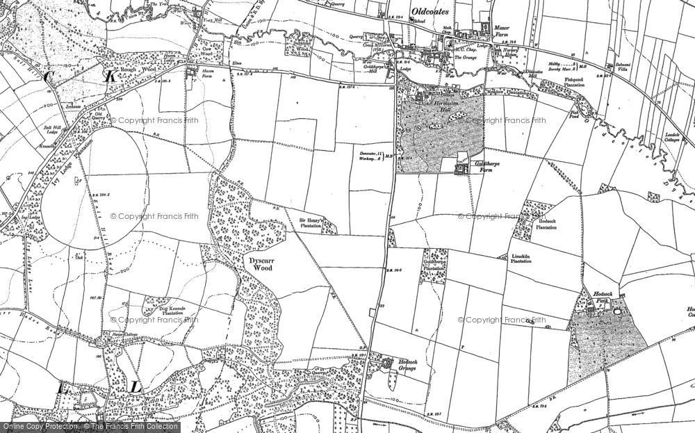 Map of Langold, 1890 - 1901