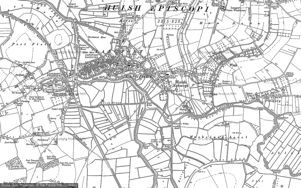 Old Map of Langport, 1885 - 1886 in 1885