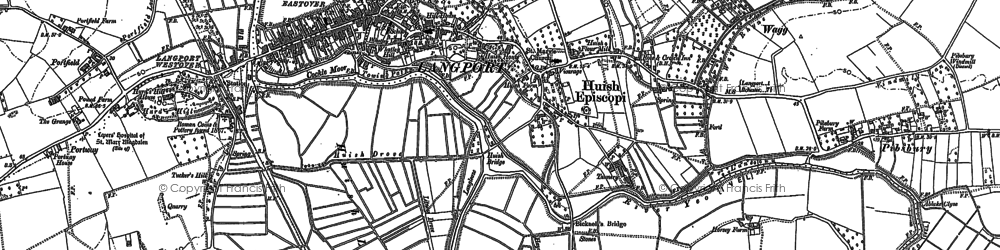 Old map of Langport in 1885