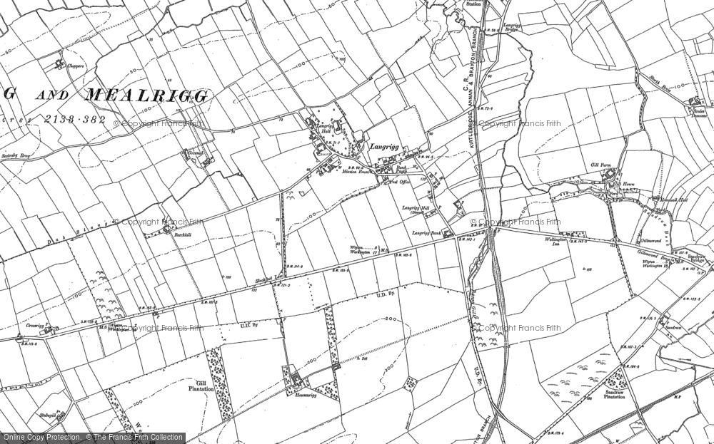 Old Map of Historic Map covering Langrigg Beck in 1899
