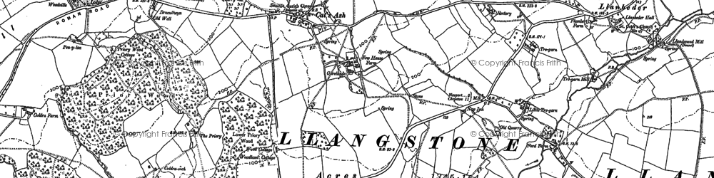 Old map of Cat's Ash in 1900