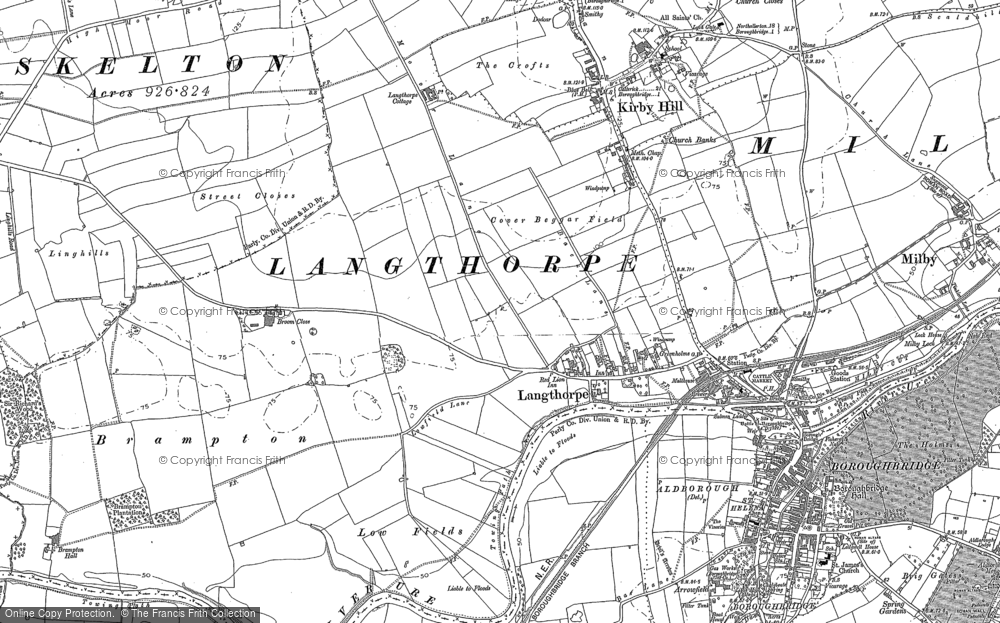 Old Map of Langthorpe, 1889 - 1892 in 1889