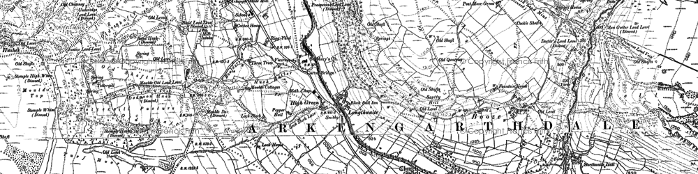 Old map of Langthwaite in 1891