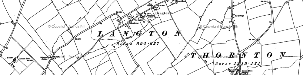 Old map of Langton in 1887