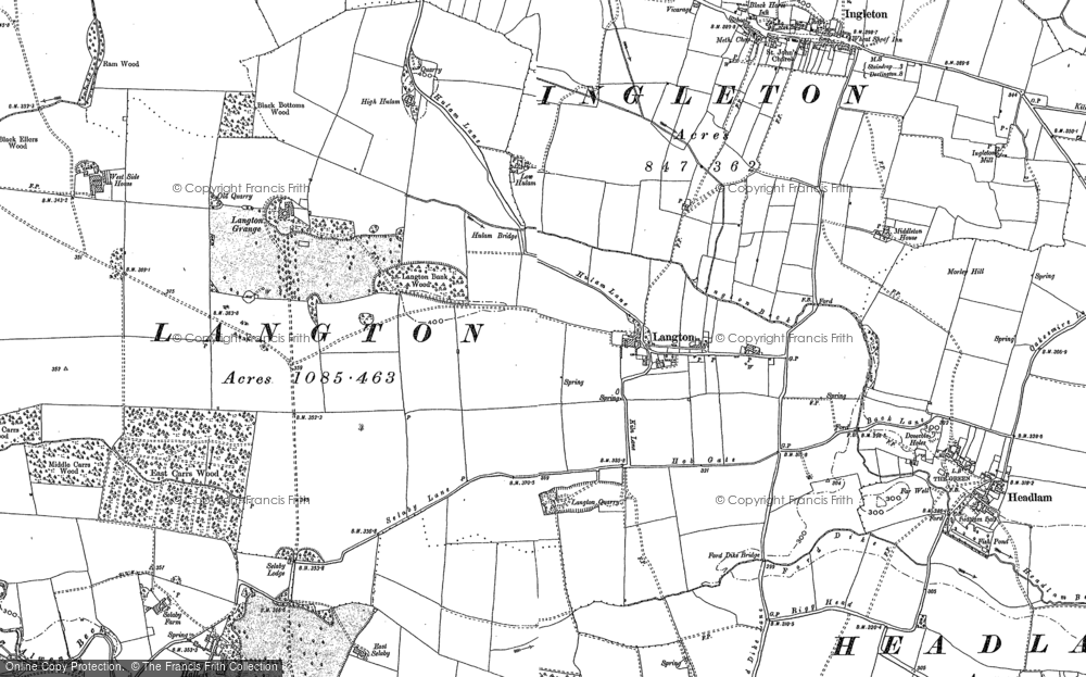 Old Map of Langton, 1896 in 1896