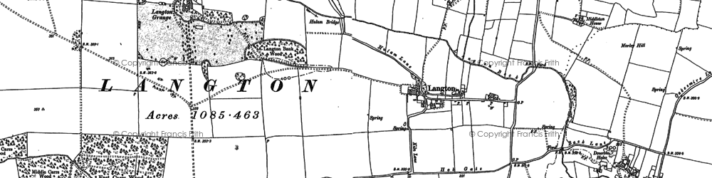 Old map of Langton Bank Wood in 1896
