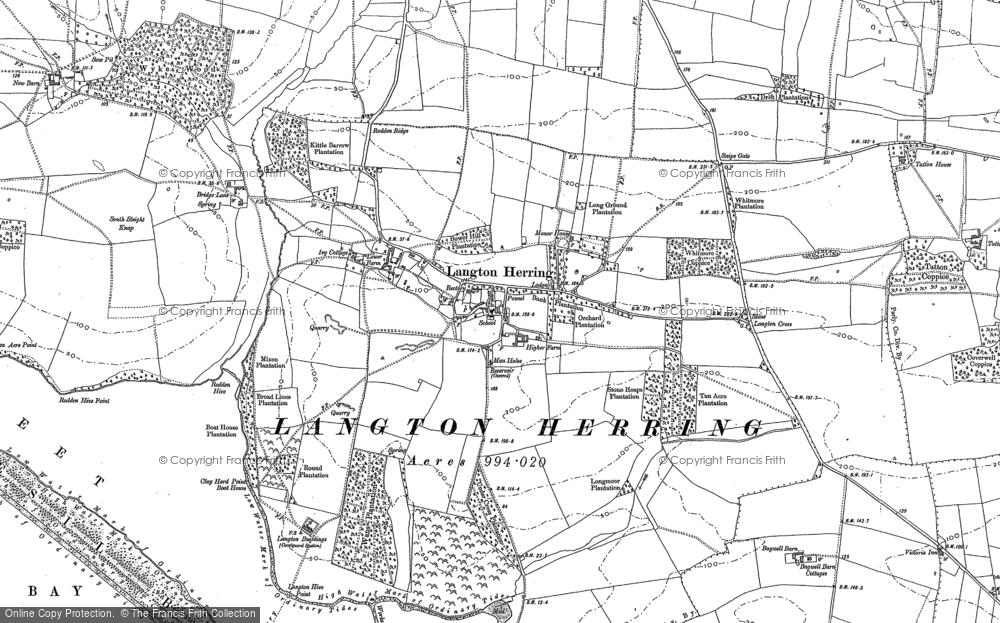 Old Map of Langton Herring, 1886 - 1902 in 1886