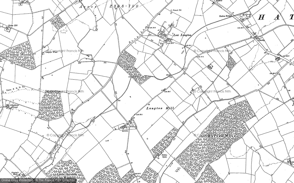 Old Map of Langton Hill, 1886 in 1886