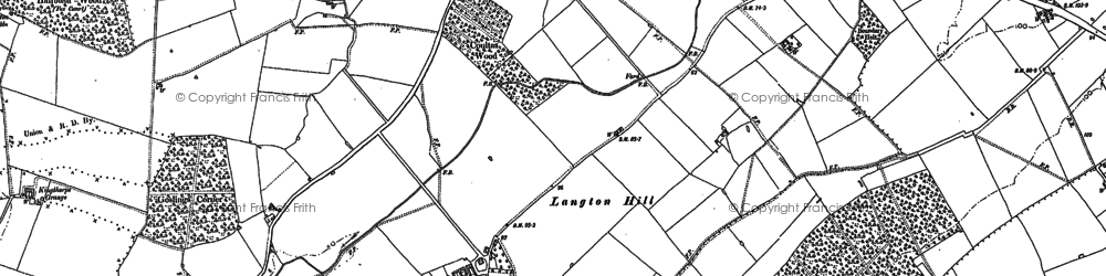 Old map of Langton Hill in 1886