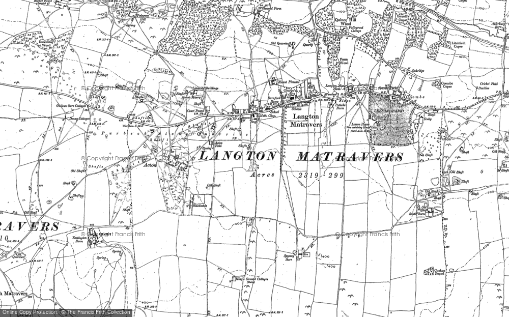 Old Map of Historic Map covering Acton in 1900
