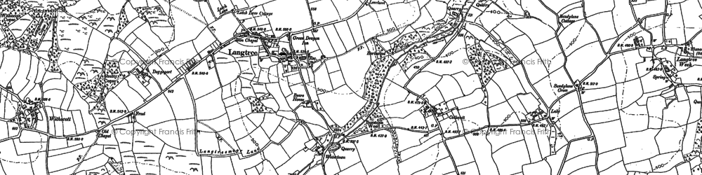 Old map of Langtree in 1884