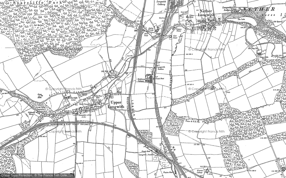 Old Map of Langwith, 1884 - 1897 in 1884