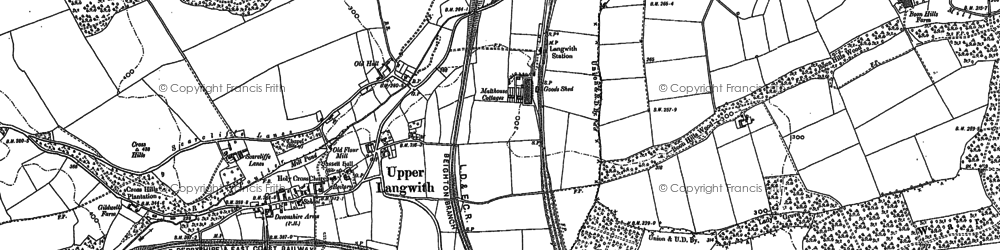 Old map of Langwith in 1884