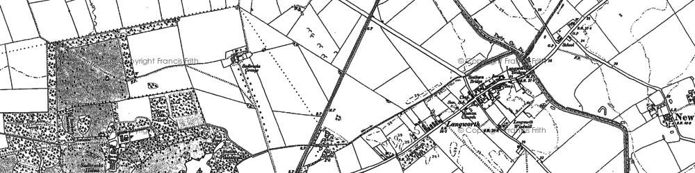 Old map of Langworth in 1885
