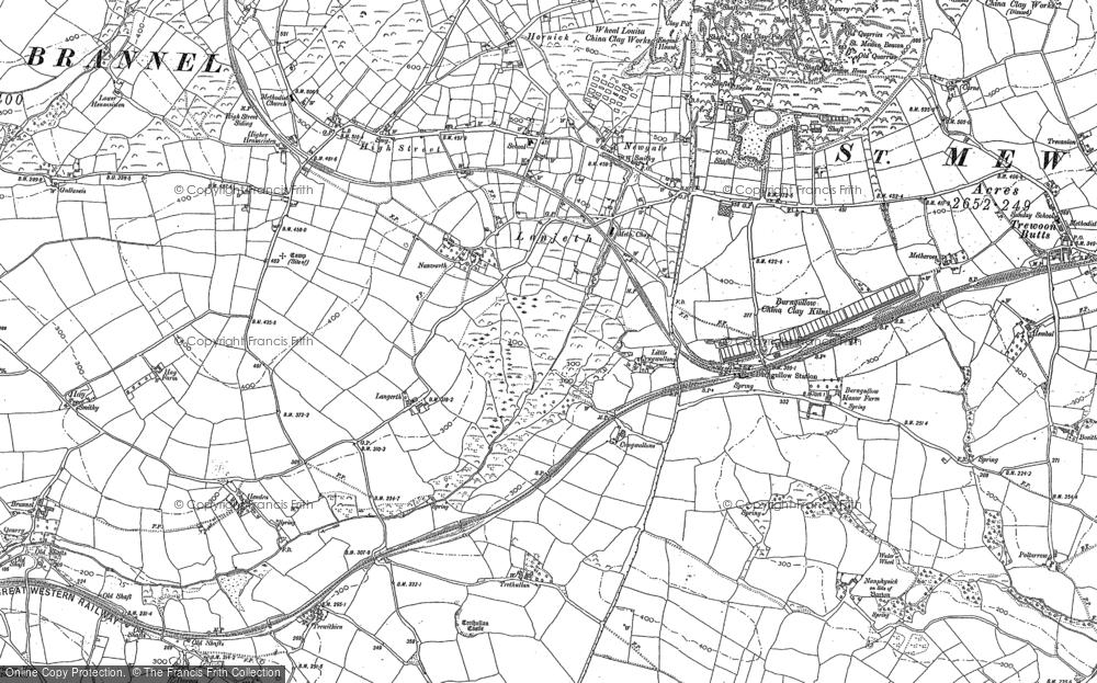 Old Map of Lanjeth, 1879 - 1906 in 1879