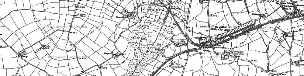 Old map of Hornick in 1879