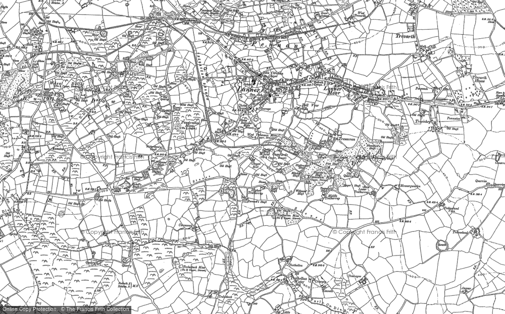 Old Map of Lanner, 1878 - 1879 in 1878