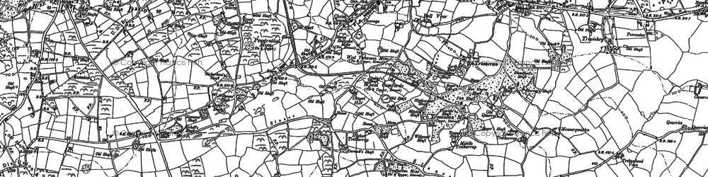 Old map of Lanner in 1878