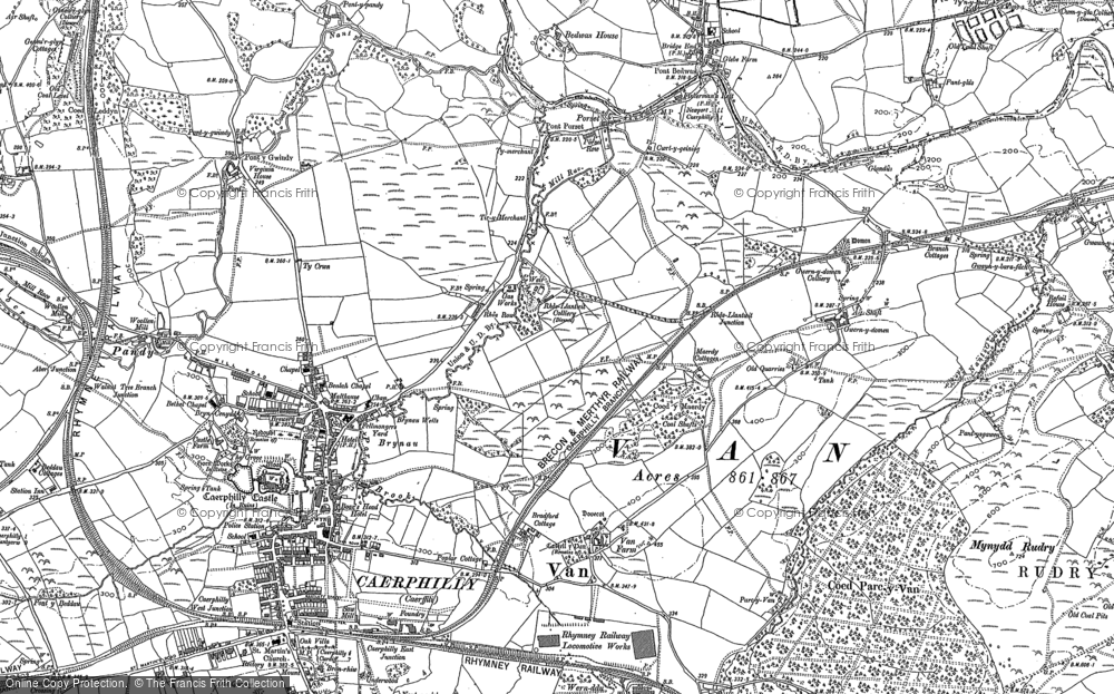 Old Map of Lansbury Park, 1915 in 1915