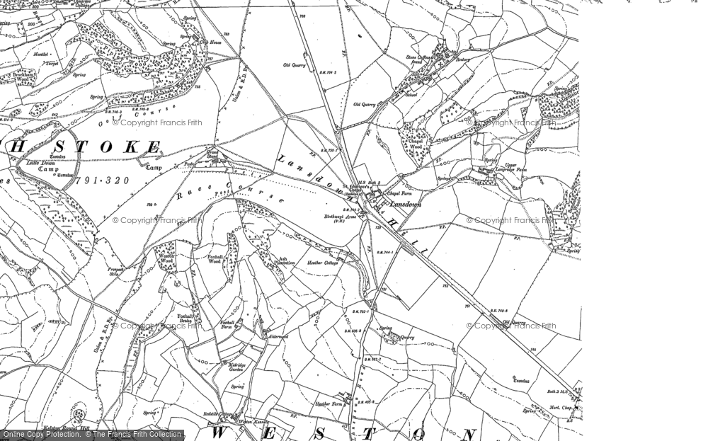 Old Map of Lansdown, 1883 - 1902 in 1883