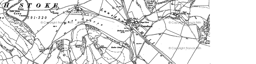 Old map of Lansdown in 1883