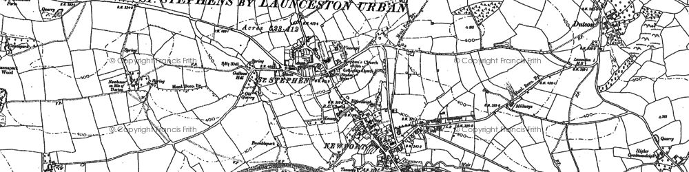 Old map of Lanstephan in 1882