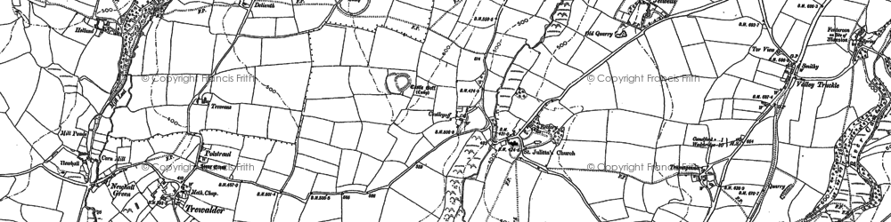 Old map of Lanteglos in 1880