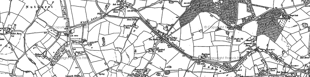 Old map of Lapworth in 1886