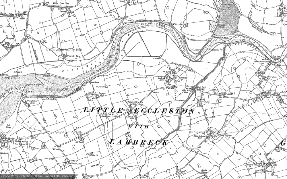 Old Map of Larbreck, 1891 - 1910 in 1891