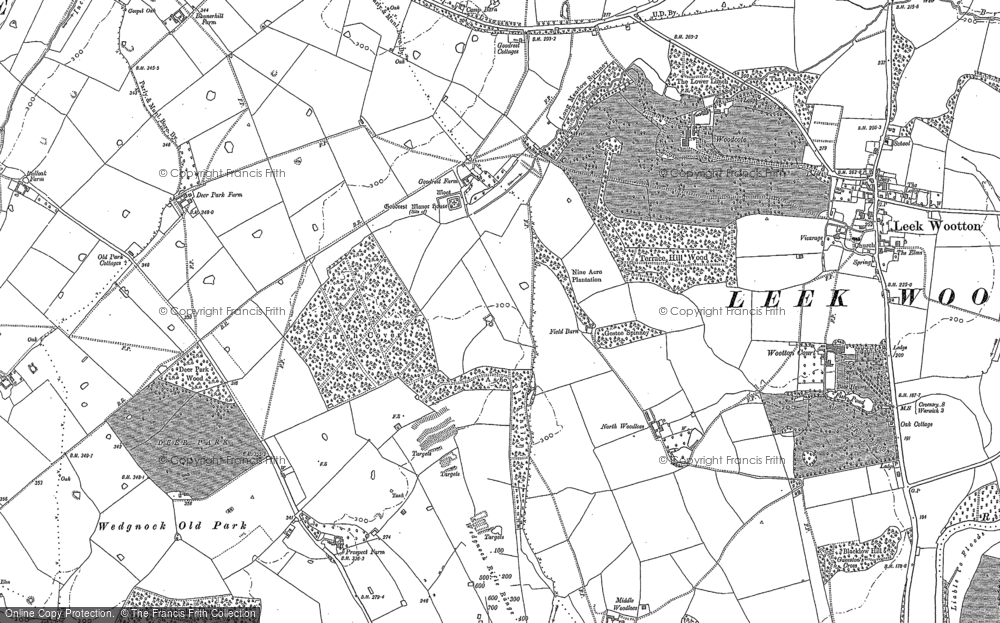 Old Map of Larch Covert, 1886 in 1886