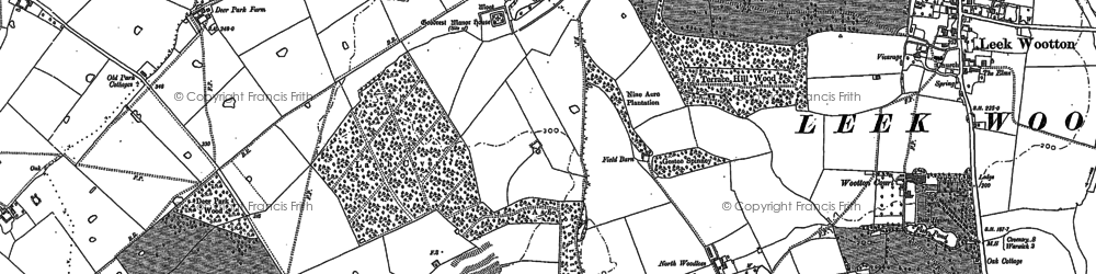 Old map of Larch Covert in 1886