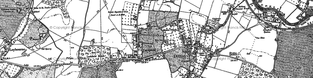 Old map of Larkfield in 1895