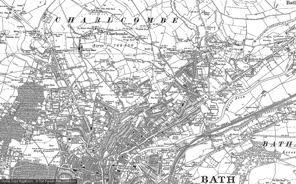 Old Map of Larkhall, 1902 in 1902