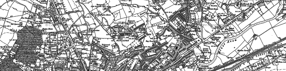 Old map of Beacon Hill in 1902