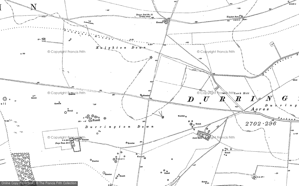 Old Map of Larkhill, 1899 in 1899