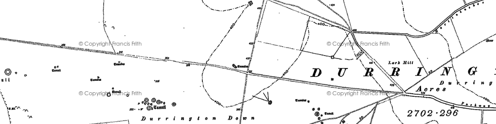 Old map of Alton Down in 1899