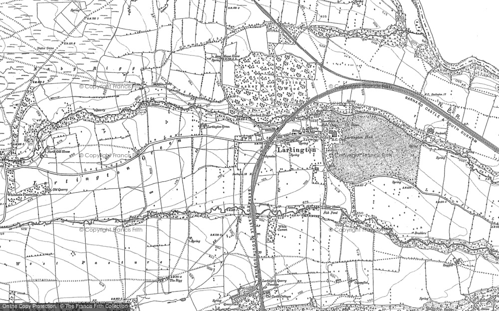 Old Map of Lartington, 1913 in 1913