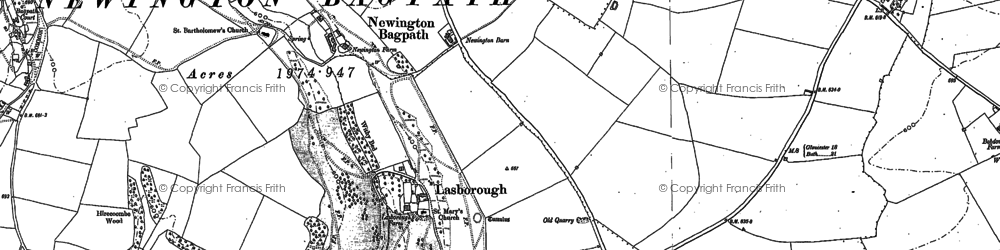 Old map of Boxwell in 1881