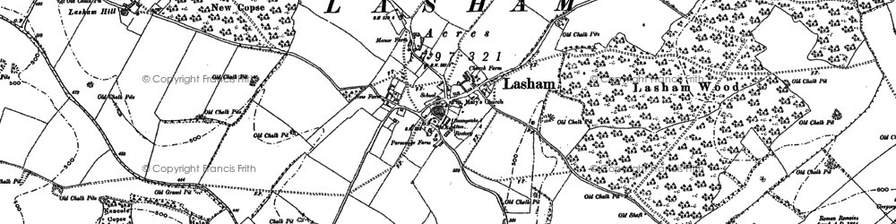 Old map of Lasham Hill in 1894