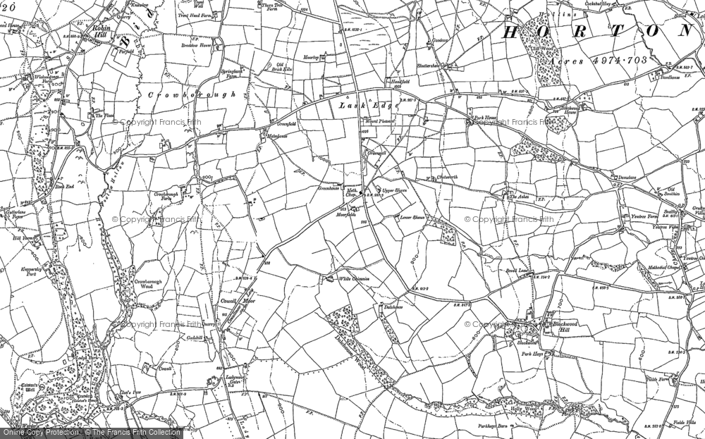 Old Map of Historic Map covering Lanehead in 1878