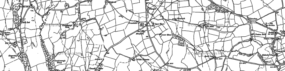 Old map of Lanehead in 1878