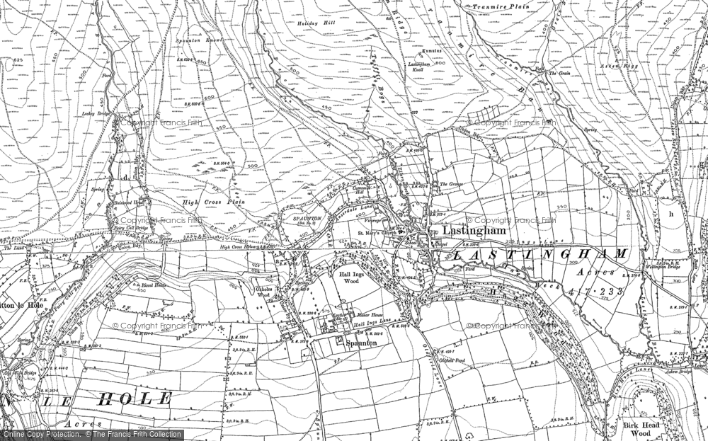 Old Map of Historic Map covering Barker Slack in 1892