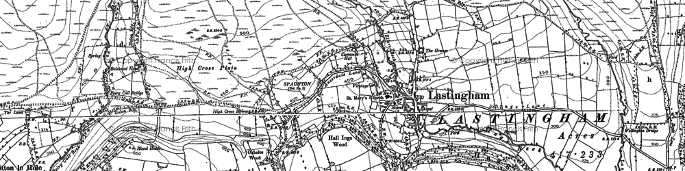 Old map of Bainwood Head in 1892