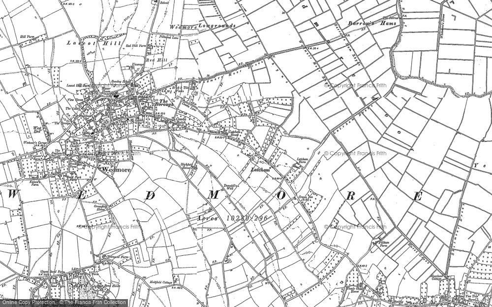 Old Map of Latcham, 1884 in 1884