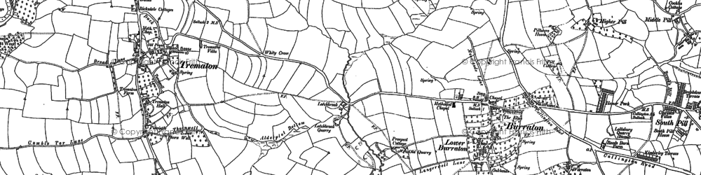Old map of Latchbrook in 1888