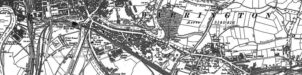 Old map of Latchford in 1905
