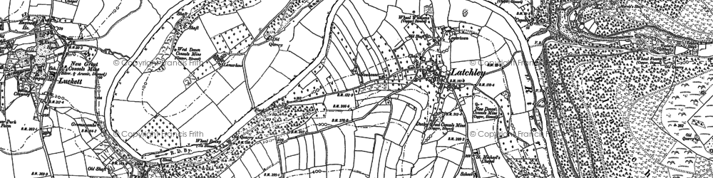 Old map of Latchley in 1905
