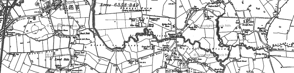 Old map of Lately Common in 1892
