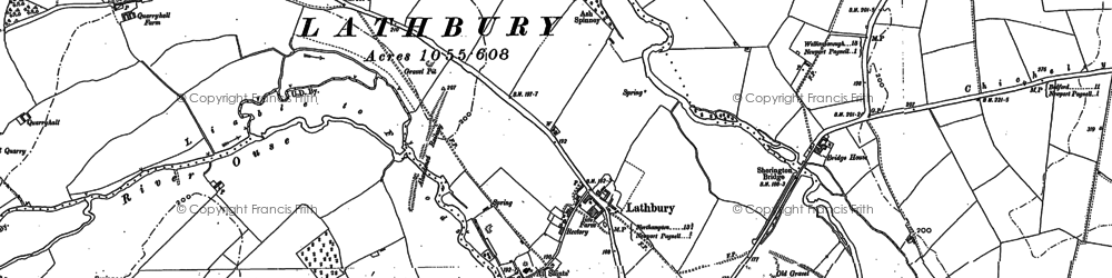 Old map of Lathbury Park in 1899