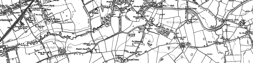 Old map of Lathom Ho in 1891